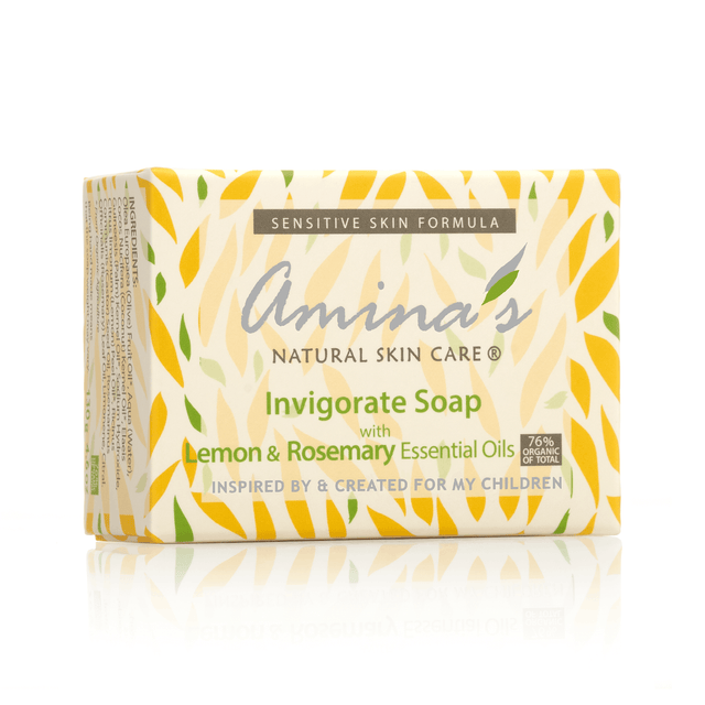 Amina's Invigorate Soap With Lemon & Rosemary Scent