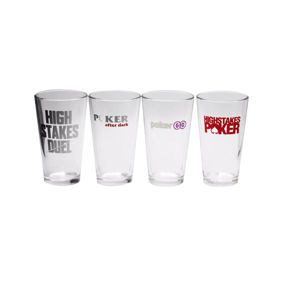 PokerGO Show Pint Glasses Set