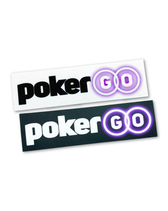 2-Pack of PokerGO Logo Stickers