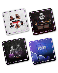 4-Pack of Cardboard PokerGO Show Coasters