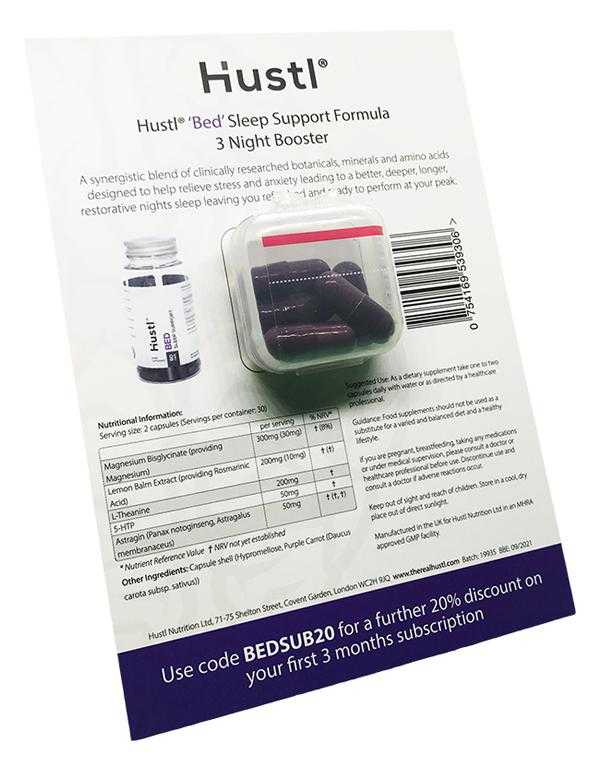 Hustl® 'Bed' Sleep Support Formula - 3 Night Booster