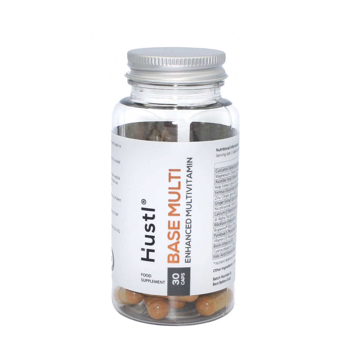 Hustl® 'Base' Advanced Multi Vitamin & Mineral with Curcumin & Kelp - 30 Capsules
