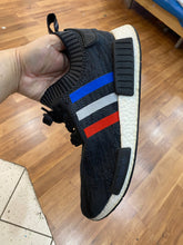 Load image into Gallery viewer, Black Tri Color Stripes NMD Size 12.5