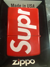 Load image into Gallery viewer, Brand new Red Supreme Logo zippo