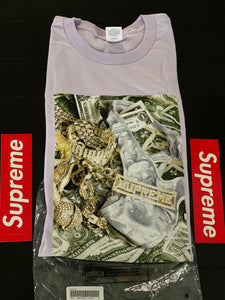 Brand new Light Purple Supreme Bling Tee Size Xlarge