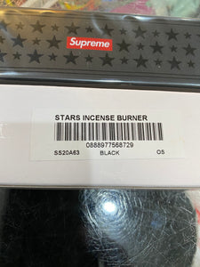 Brand new Black Supreme Stars Incense Burner