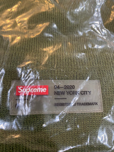 Brand new Olive Supreme Clear Label Beanie