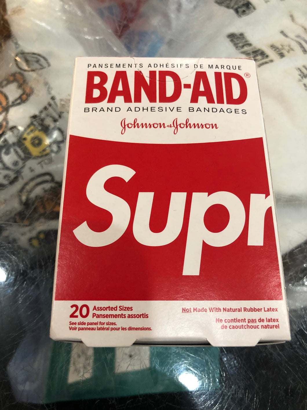 Brand new Red Supreme Band aids