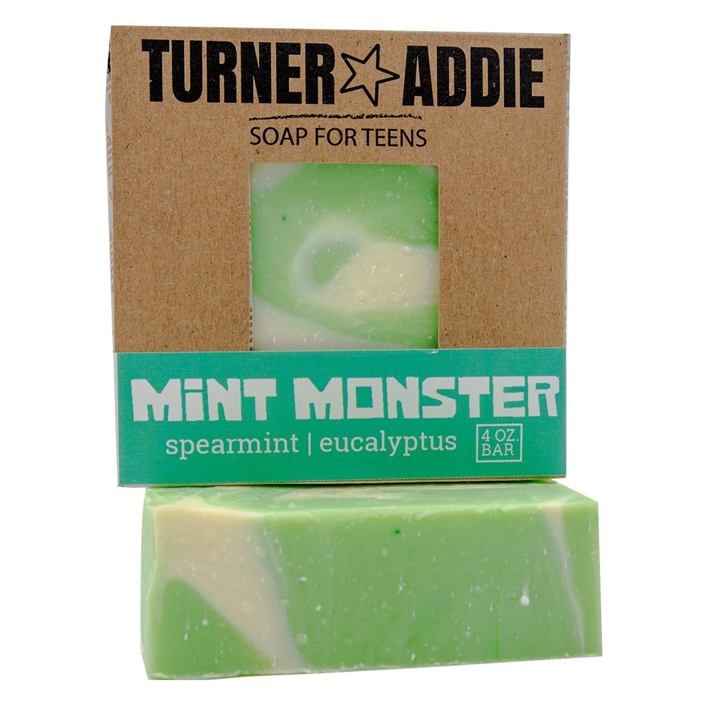 All Natural Teen Soap Bar - Mint Monster