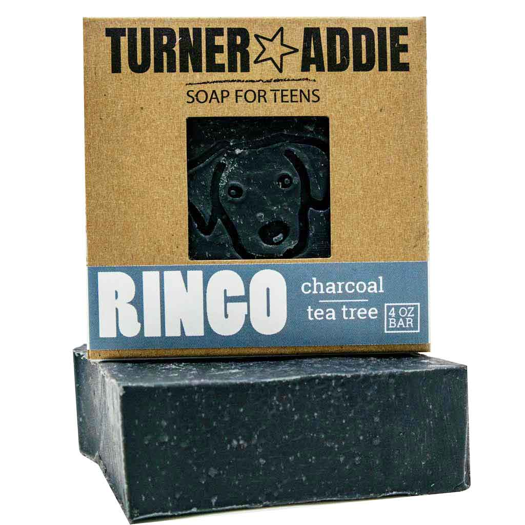 RINGO Charcoal Soap Bar | Handmade Natural Soap for Teens