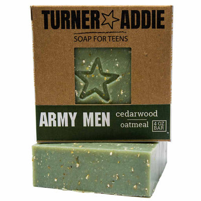 Army Men Soap Bar | Handmade Natural Soap for Teens