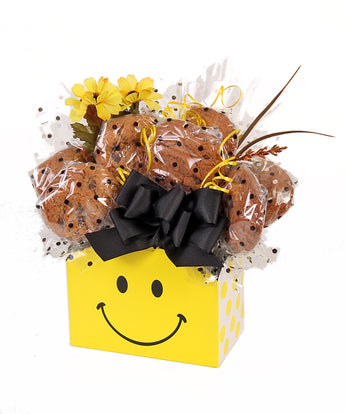 Smile Bright Box Cookie Bouquet Gift - 8, 10, 12 or 16 Cookies