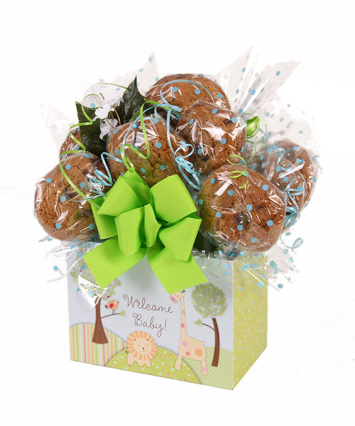Welcome Baby! Box Cookie Bouquet - 8, 10, 12 or 16 Cookies
