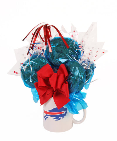 Buffalo Bills Mug Cookie Bouquet - 6 Cookies