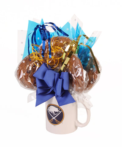 Buffalo Sabres Mug Cookie Bouquet - 6 Cookies