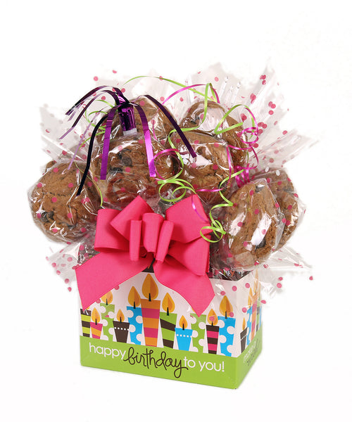 Happy Birthday Candles Cookie Bouquet - 8, 10, 12 or 16 Cookies