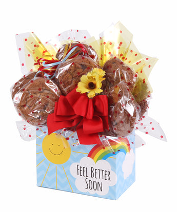 Feel Better Soon Sunshine Box Cookie Bouquet