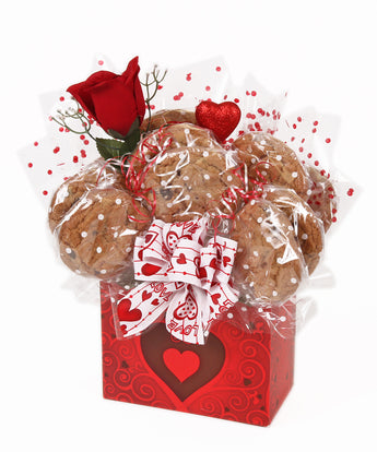 Valentine's Day Cookie Bouquet - 8, 10, 12 or 16 Cookies