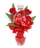Glass Vase Cookie Bouquet - 12 Cookies