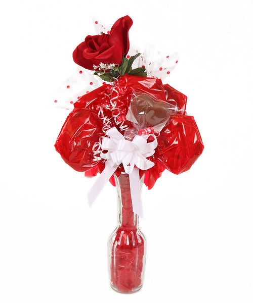 Glass Vase Roses Cookie Bouquet - 6 Cookies