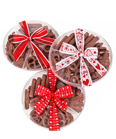 Valentine's Day Chocolate Snack Platter