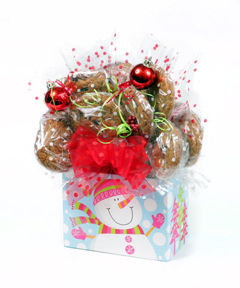 Winter Snowman Cookie Bouquet - 8, 10, 12 or 16 Cookies