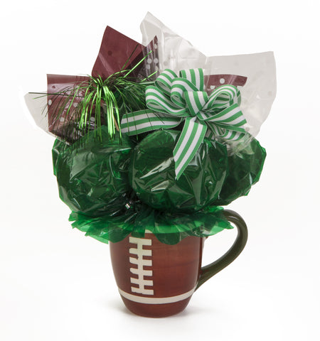Football Mug Cookie Bouquet - 6 Cookies