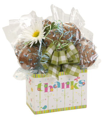 Thank You Floral Box Cookie Bouquet - 8, 10, 12 or 16 Cookies