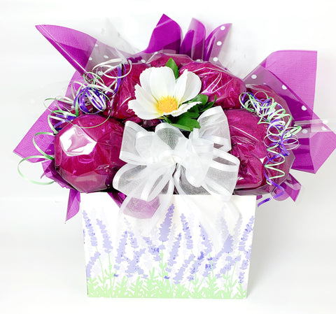 Lavender Fields Floral Cookie Bouquet - 8, 10, 12 or 16 Cookies