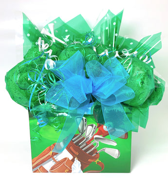 Golf Box Cookie Bouquet - 8, 10, 12 or 16 Cookies