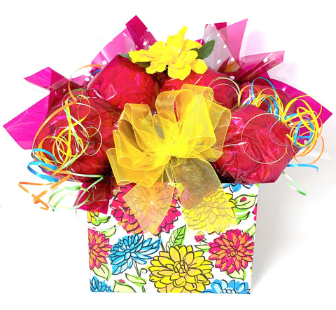 Bright Floral Cookie Bouquet - 8, 10, 12 or 16 Cookies