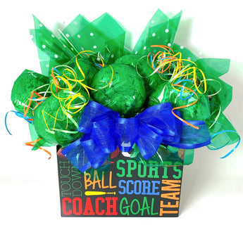 Sports Box Cookie Bouquet - 8, 10, 12 or 16 Cookies