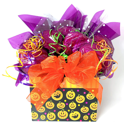 Halloween Pumpkin Cookie Bouquet - 8, 10, 12 or 16 Cookies