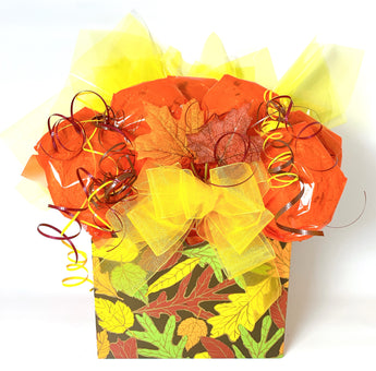 Autumn Leaves Box Cookie Bouquet - 8, 10, 12 or 16 Cookies