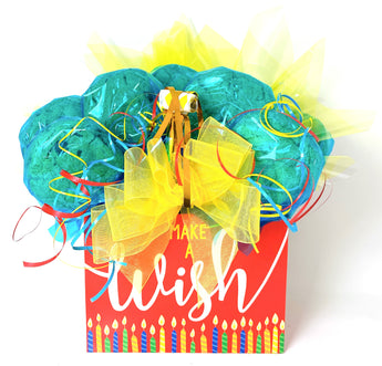 Make A Wish Birthday Cookie Bouquet - 8, 10, 12 or 16 Cookies