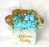 Welcome Baby Confetti Box Cookie Bouquet - 8, 10, 12 or 16 Cookies