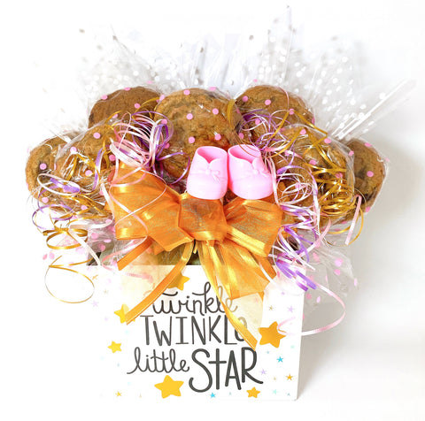 Twinkle Twinkle Little Star Baby Box Cookie Bouquet - 8, 10, 12 or 16 Cookies