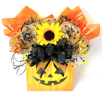 Jack-o'-Lantern Box Cookie Bouquet - 8, 10, 12 or 16 Cookies