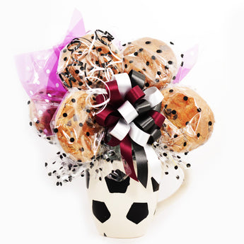Soccer Mug Cookie Bouquet - 6 Cookies