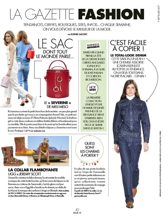 ELLE France severine red