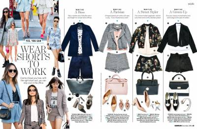 Wear shorts to work. Cosmopolitan