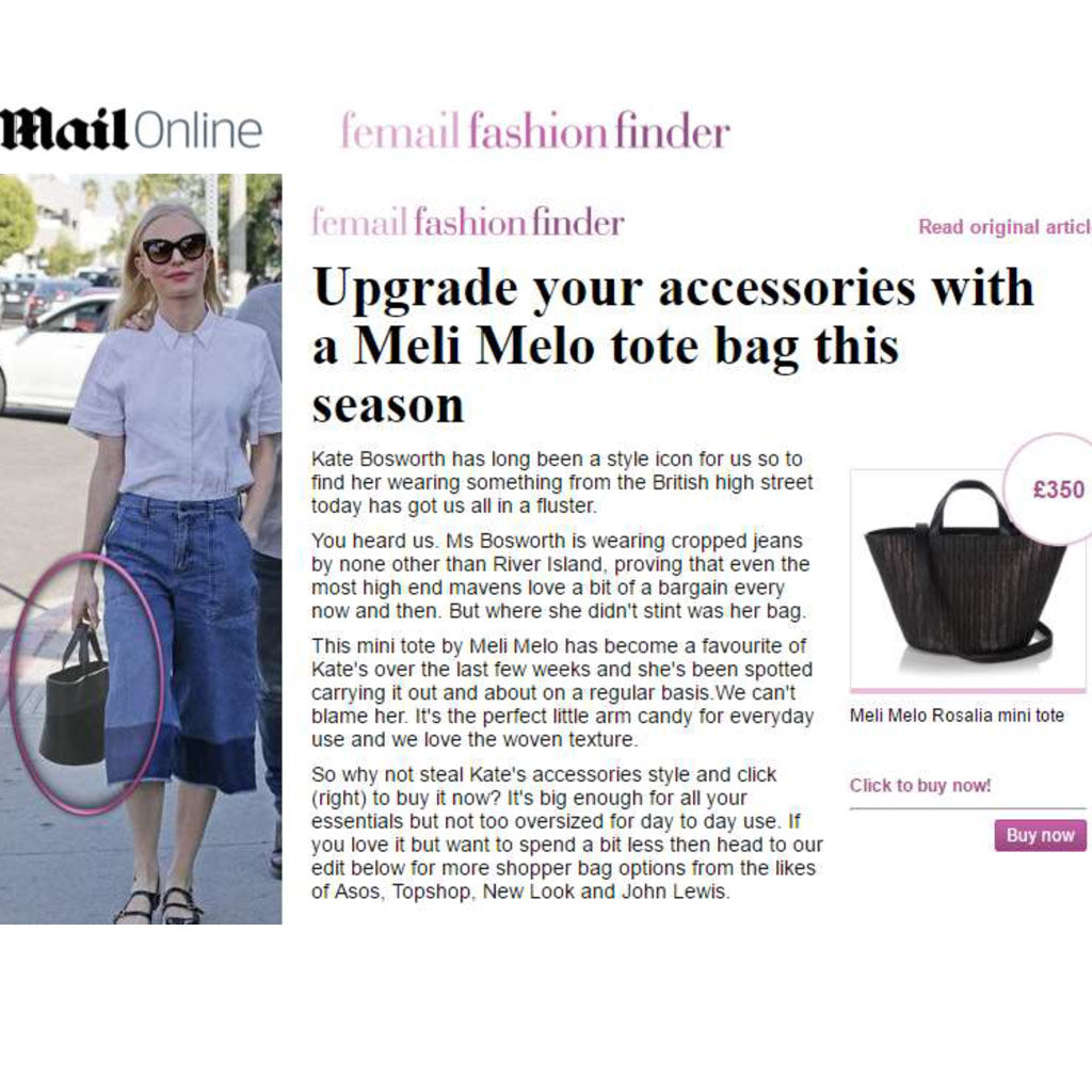 Kate Bosworth Wears the Rosalia Mini handbag - from meli melo