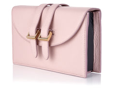 meli melo Prep Clutch Dusty Pink