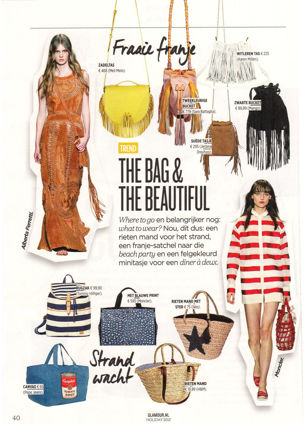 Tallulah Yellow Sun Fringe Bag from meli melo