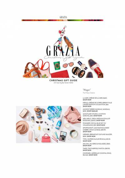 Christmas Gift Guide with Grazia