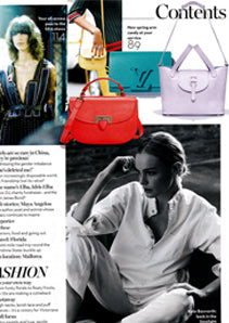Marie Claire UK featuring meli melo Thela Medium Lilac Bag