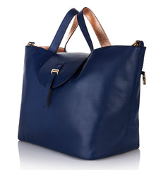 Reversible Thela Navy Blue & Rose Gold Bag
