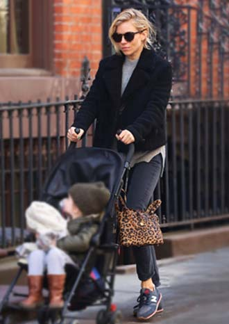 Sienna Miller wearing meli melo bag