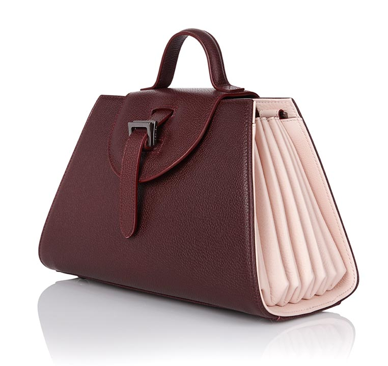 Allegra Mini Burgundy & Pastel Pink