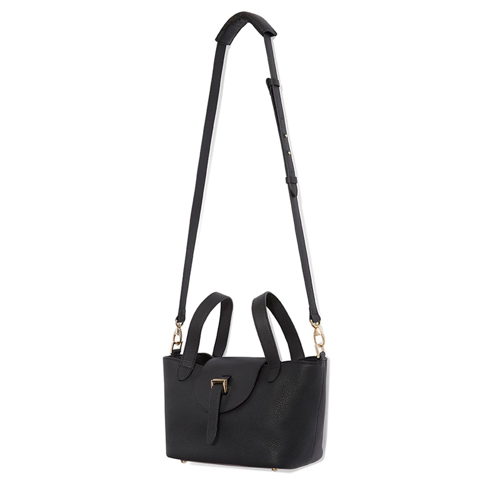 Thela Mini Black with Zip Closure Cross Body Bag for Women - meli melo Official